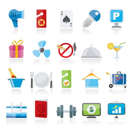 motel: Hotel and motel services icons 2- vector icon set