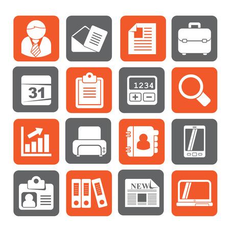 Het silhouet van bedrijven en kantoren iconen - vector icon set