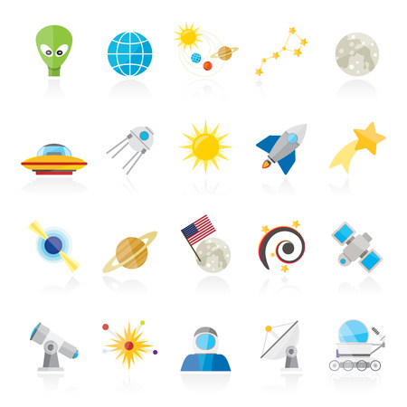 ursa minor: astronomy and space icons  - vector icon set