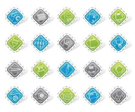 paper punch: Office tools icons -  vector icon set 3 Illustration