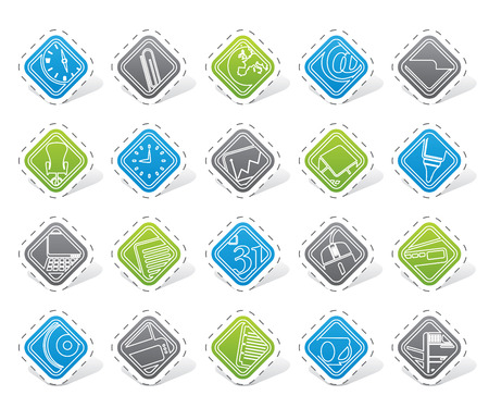 mouse pad: Business and Office tools icons vector icon set 2 Illustration