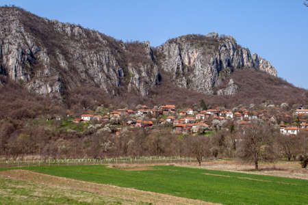 rock formation: Panorama of Vlasi Village and rock formation, Serbia