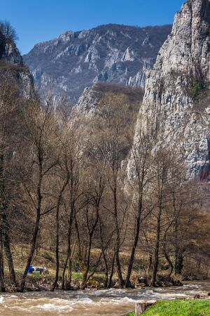 rock formation: Rock Formation in Erma River Gorge, Serbia
