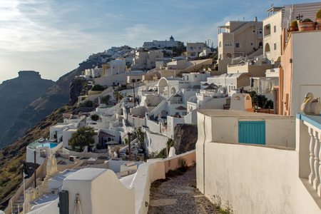 thira: Town of Fira Santorini Thira  Cyclades Islands