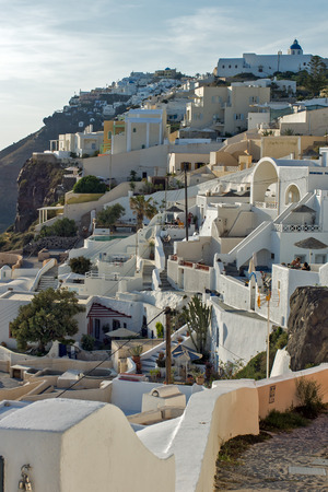 cyclades: Town of Fira Santorini Thira  Cyclades Islands