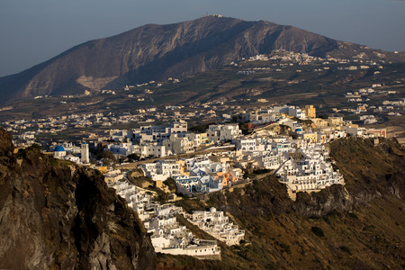 fira: Town of Fira Santorini Thira  Cyclades Islands