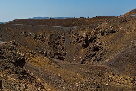 Crater of the volcano of Santorini Island photo