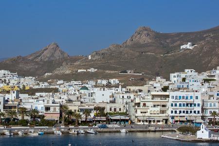 naxos: Landscape of Naxos town Cyclades Islands