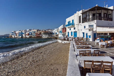 mykonos: Little Venice at Mykonos Island Cyclades Islands