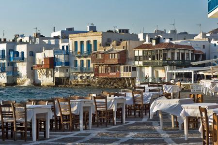 Little Venice at Mykonos Island Cyclades Islands photo
