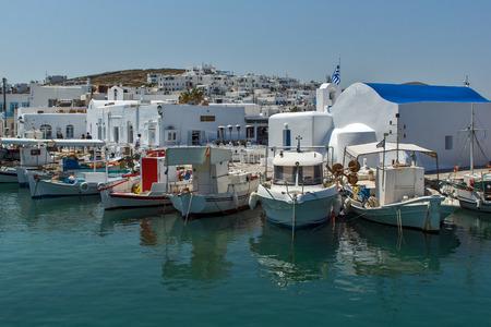taverna: Port of Naousa town Paros island Cyclades