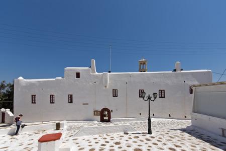 ano: Town of Ano Mera island of Mykonos Cyclades Islands Stock Photo