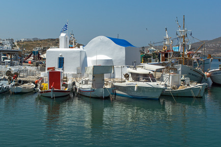 cyclades: Port of Naousa town Paros island Cyclades