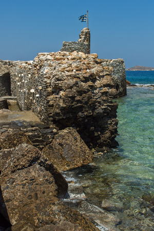 taverna: Venetian fortress in Naousa town Paros island Cyclades