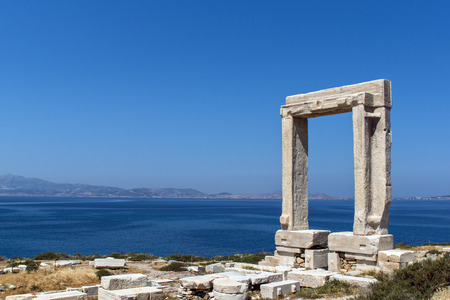 cyclades: Apollo Temple entrance Naxos island Cyclades Stock Photo