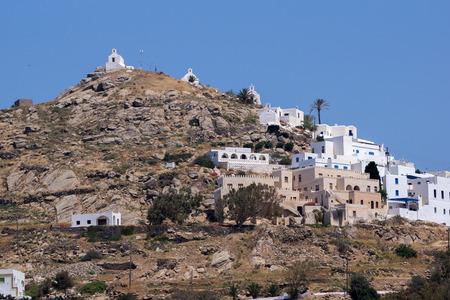 ios: Panoramic view of Ios island Cyclades