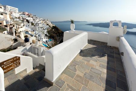 fira: Town of Fira Santorini Tira Island Cyclades Editorial