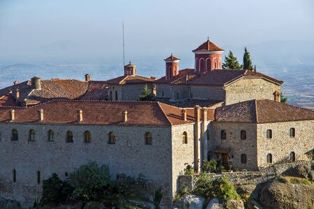 stephen: Meteora Santo Monastero di Santo Stefano Grecia Archivio Fotografico