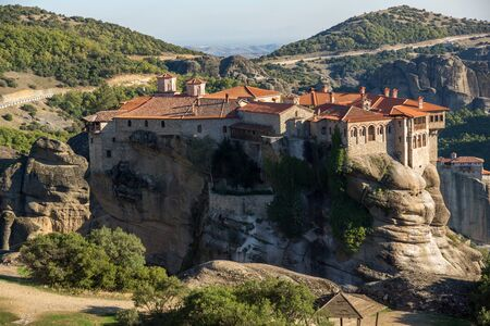 Meteora Holy Monastery of Varlaam Greece Stock Photo