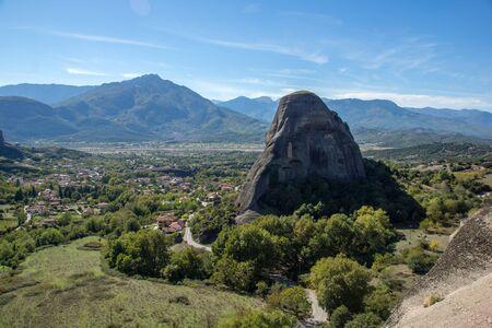 thessaly: Village of Kastraki near Meteora Trikala Thessaly Greece Stock Photo