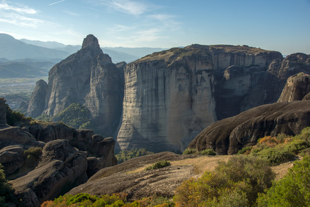 monasteries: Meteora Monasteries Landscape Greece
