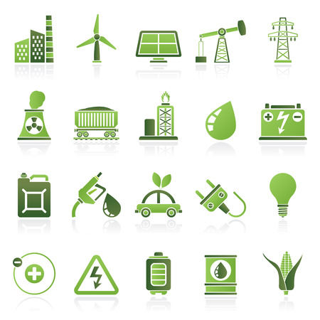Power energy and electricity Source icons  vector icon set