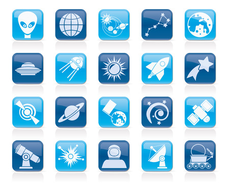 astronomy and space icons   vector icon set Vector
