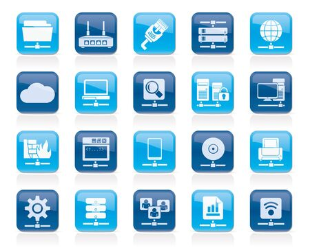 Computer Network and internet icons  vector icon set Vector