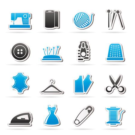 shears: sewing equipment and objects icons  vector icon set
