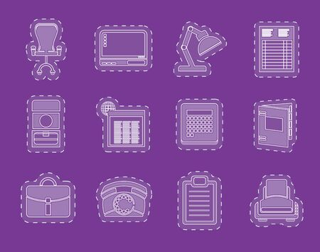 Simple Business office and firm icons  vector icon set Vector