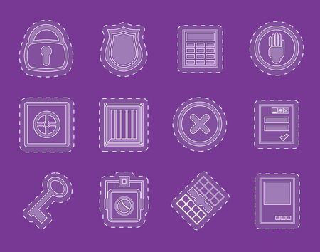 Simple Security and Business icons  vector  icon set Vector