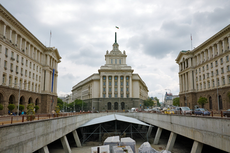 The buildings of the Council of Ministers and the Presidency  Sofia Bulgaria Editorial