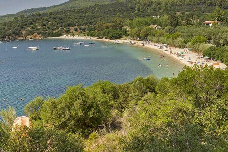 sithonia: Agia Kiriaki Beach Calcidica Sithonia Central Macedonia Grecia Archivio Fotografico