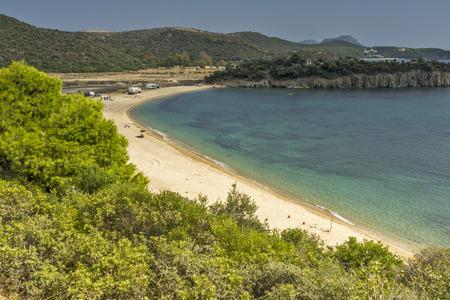 sithonia: Azapiko Beach Chalkidiki  Sithonia Central Macedonia Greece Stock Photo