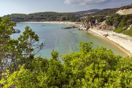 sithonia: Tristinikouda Beach Chalkidiki  Sithonia Central Macedonia Greece Stock Photo