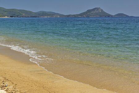 sithonia: Tristinika Beach Chalkidiki  Sithonia Central Macedonia Greece Stock Photo