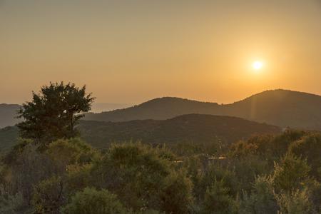 sithonia: Sithonia Sunsets Chalkidiki  Sithonia Central Macedonia Greece Stock Photo