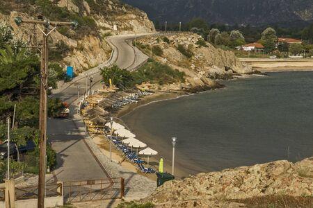 sithonia: Linaraki Beach Chalkidiki  Sithonia Central Macedonia Greece Stock Photo