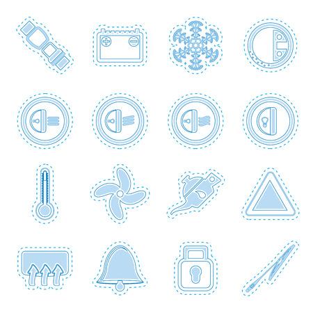 dashboard: Car Dashboard icons   vector icons set