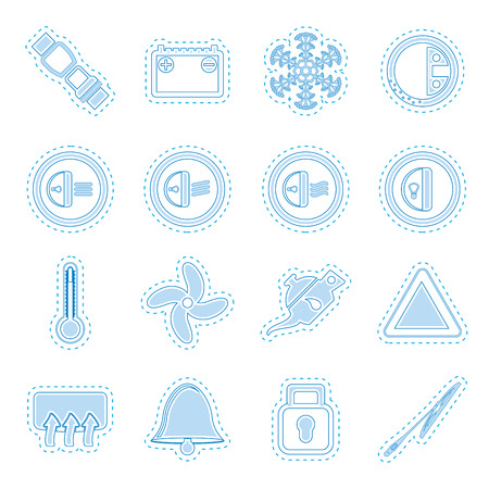 Car Dashboard icons   vector icons set