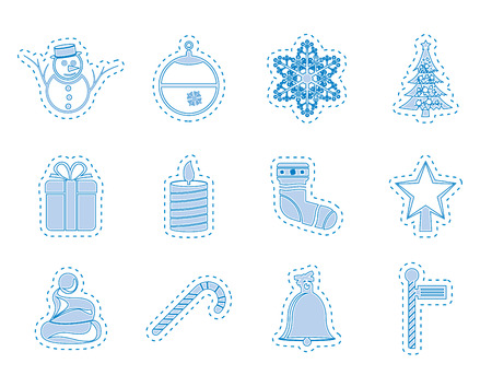 Beautiful Christmas And Winter Icons  Vector Icon Set Vector