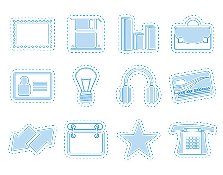 corporative: Office and business icons  vector icon set Illustration