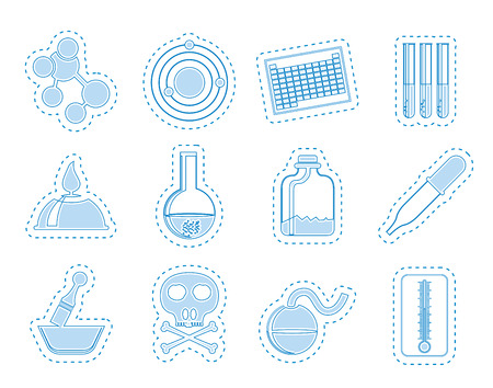 Chemistry industry icons  vector icon set Vector