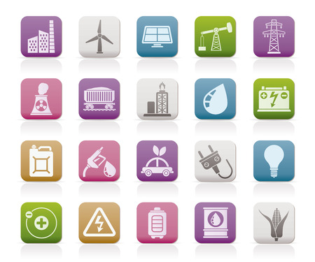 electricity pole: Power energy and electricity Source icons  vector icon set