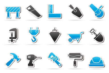 plumb: Construction industry and Tools icons  vector icon set