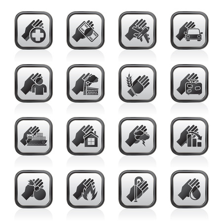 monet: Insurance and risk icons  vector icon set