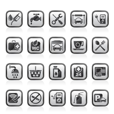 petrol station: petrol station icons  vector icon set