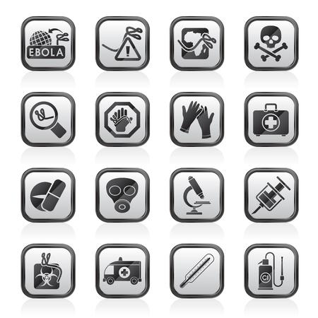 Ebola pandemic icons  vector icon set Vector