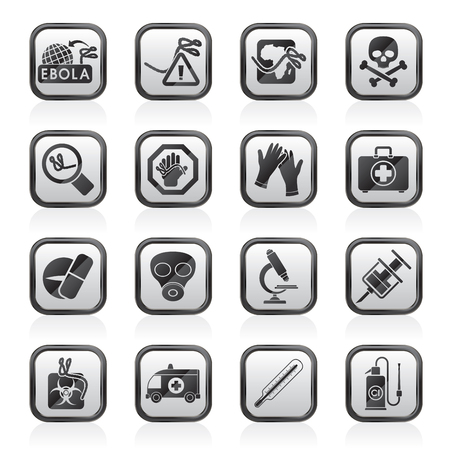 ebola: Ebola pandemic icons  vector icon set