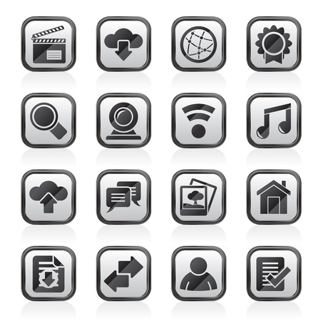 camra: Internet and website icons  vector icon set